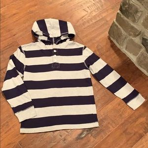 Gymboree Boys Hoodie NAVY and Gray Size 8